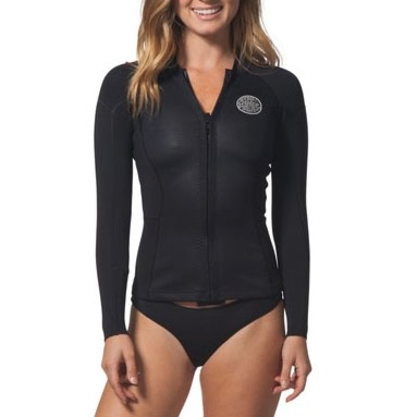 Rip Curl Wetsuits Women's Dawn Patrol 2mm Long Sleeve Jacket - Black
