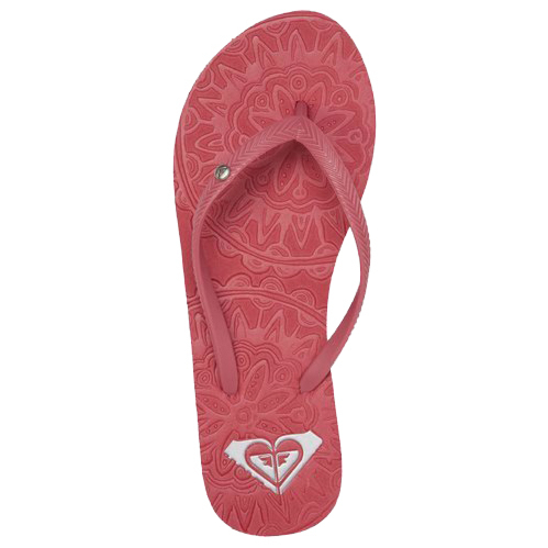 Roxy Women's Antilles Sandals - Pink Carnation - Top