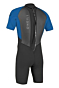 O'Neill Youth Reactor II 2mm Short Sleeve Back Zip Spring Wetsuit - Black/Ocean - Back