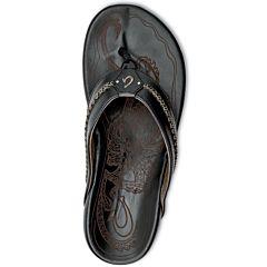 Olukai Mea Ola Sandals - Black/Black - Top