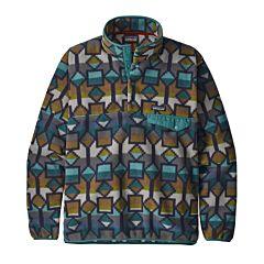 Patagonia Lightweight Synchilla Snap-T Fleece Pullover - Cedar Mesa/New Navy