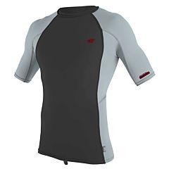 O'Neill Premium Skins Short Sleeve Rash Guard - Raven/Cool Grey - Front