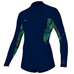 O'Neill Women's Bahia 2/1 Short Spring Wetsuit - Abyss/Faro/Abyss