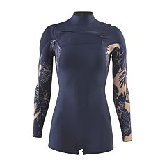 Patagonia Women's R1 Lite Yulex 2mm Long Sleeve Chest Zip Spring Wetsuit - Valley Flora/Rosewater