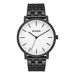Nixon Porter Watch - Matte Black/White