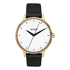 Nixon Women's Kensington Leather Watch - Gold/Bar