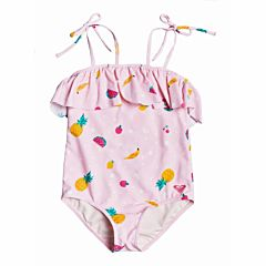 Roxy Youth Lovely Aloha Swimsuit - Rose Shadow - front