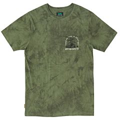 HippyTree perception Cloud Wash T-Shirt - Army - front