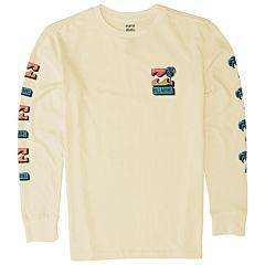 Billabong Youth Boys Bbtv Long Sleeve T-Shirt - Lemon - front