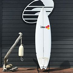 Channel Island Black and White 6'8 x 20 5/8 x 2 1/2 Used Surfboard - Top