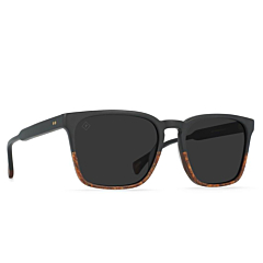 Raen Pierce Polarized Sunglasses - Burlwood/Black - Side Angle