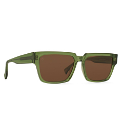 Raen Rhames Polarized Sunglasses - Chartreuse/Vibrant Brown - Side Angle