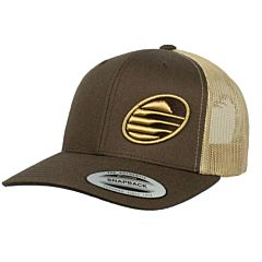 Cleanline Embroidered Rock Mesh Hat - Brown/Khaki