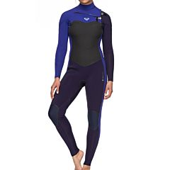 Roxy Women's Performance 3/2 Chest Zip Wetsuit - Blue Ribbon/Purple Blue