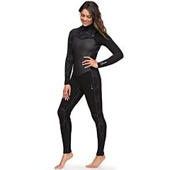 Roxy Women's Performance 4/3 Chest Zip Wetsuit - Solid Black
