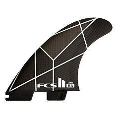FCS II KA PC Medium Tri Fin Set - White/Grey