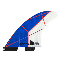 FCS II KA PC Medium Tri Fin Set - Blue/White