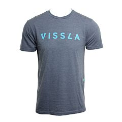 Vissla Foundation T-Shirt - Heather Strong Blue - front