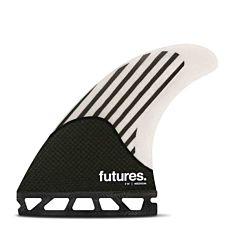 Futures Firewire Medium Tri Fin Set - White/Carbon