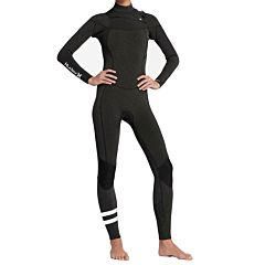 Hurley Women's Plus 3/2 Chest Zip Wetsuit - Black
