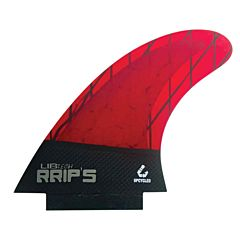 Lib Tech Fins RRIP's Twin + 1 Fin Set - Red