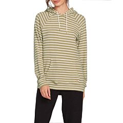 Volcom Women's Lived In Lounge Hoodie - Dusty Green - front