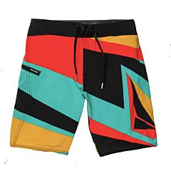 Volcom Youth Ransacked Mod Boardshorts - Black - front