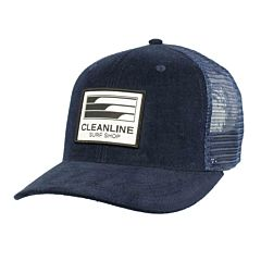 Cleanline Lines Mesh Hat - Navy Corduroy
