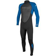 O'Neill Youth Reactor II 3/2 Back Zip Wetsuit - Black/Ocean