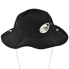 Cleanline Embroidered Rock Bucket Hat - Black/Cream