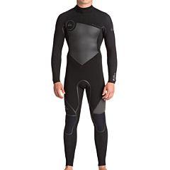Quiksilver Syncro Plus 3/2 Back Zip Wetsuit - Black/Jet Black
