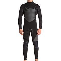 Quiksilver Syncro Plus 5/4/3 Chest Zip Wetsuit - Black/Jet Black