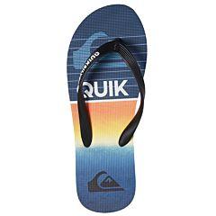 Quiksilver Molokai Highline Slab Sandals - Black/Blue - Top