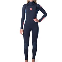 Rip Curl Women's Dawn Patrol 3/2 Chest Zip Wetsuit - Slate