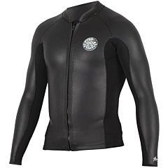 Rip Curl Aggrolite 1.5mm Chest Zip Long Sleeve Jacket - Black