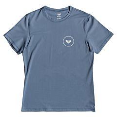 Roxy Women's Enjoy Waves Short Sleeve Rash Guard - Blue Mirage