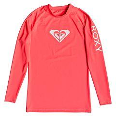 Roxy Women's Whole Hearted Long Sleeve Rash Guard - Fiery Coral