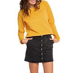 Roxy Women's Wild Young Button Through Denim Skirt - Anthracite