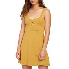 RVCA Women's All Talk Dress - Camel