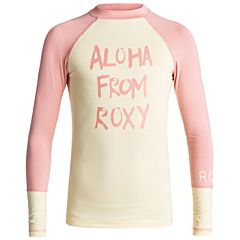 Roxy Youth Girls Sea Bound Long Sleeve Rash Guard - Double Cream