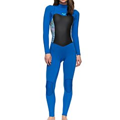 Roxy Women's Syncro 3/2 Back Zip Wetsuit - Sea Blue II