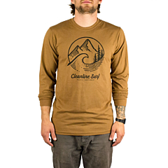 Cleanline Pacific Northwest Long Sleeve T-Shirt - Saddle