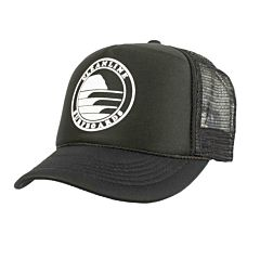 Cleanline Silhouette Circle Mesh Hat - Black/White