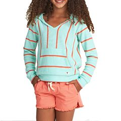 Billabong Youth Girl's Sandy Stripes Hoodie - Seaglass - front