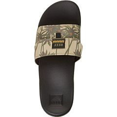 Reef Stash Slide Sandals - Tan Palm - Top