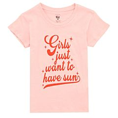 Billabong Youth Girls Want Sun T-Shirt - Pink Haze - front