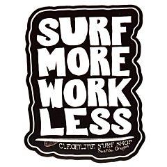 Cleanline Surf Work Less Sticker - Black/White
