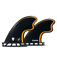 Futures Fins Tomo Quad Fin Set - Black/Orange
