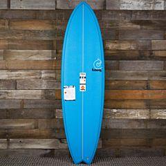 Torq Mod Fish 6'6 x 21 x 2 5/8 Surfboard - Blue - Deck