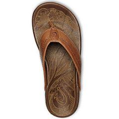 Olukai Hiapo Sandals - Rum/Dark Wood